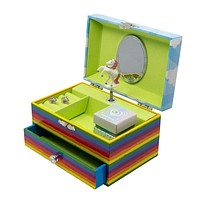 Rainbow Unicorn Music Jewelry Box