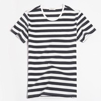 Men's Fashion Summer Short Sleeve Vintage Stripes Sea Tops T-shirts [10350416515]