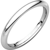 18K Palladium 2mm Comfort Fit Wedding Band Ring - Bridal Jewelry: RingSize: 50