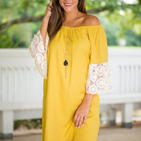 Soothing Sunflowers Dress, Yellow