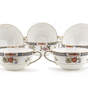 Antique Noritake Nippon Cream Soup Bowls Double 1912 Handled Cups Set of 8  Fine Bone China Dishes