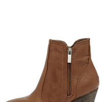 Straight Up Now Chestnut Brown High Heel Ankle Boots