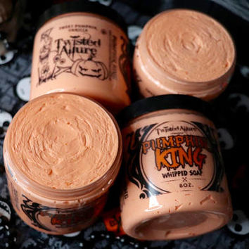 8 oz Pumpkin King  Whipped Soap | Halloween | Sweet Vanilla Pumpkin  | Soap | Whipped soap | candy corn