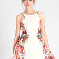 Barnet Studded Floral Dress - $68.00 : ThreadSence, Women's Indie & Bohemian Clothing, Dresses, & Accessories