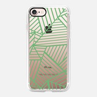 Abstraction Zoom Green Transparent iPhone 7 Case by Project M | Casetify