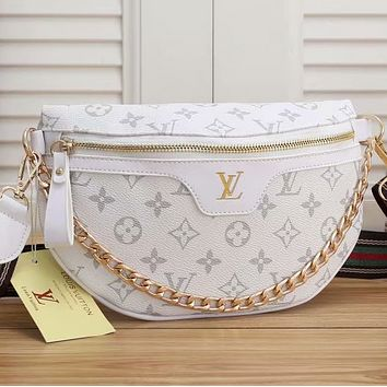 Louis Vuitton LV Fashion Leather Waist Bag Satchel Single Shoulder Bag