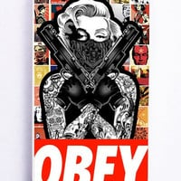 iPhone 5 Case - Hard (PC) Cover with Marilyn monroe obey gangsta Plastic Case Design