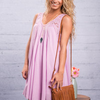 Love Letters Dress, Lilac