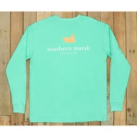 Southern Marsh Authentic Long Sleeve Tee- Bimini Green