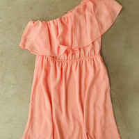 Sweet Ruffled Apricot Dress : Vintage Inspired Clothing & Affordable Dresses, deloom | Modern. Vintage. Crafted.