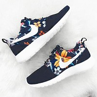 NIKE  New Fashion Floral Print Women Casual Running Sport Shoes Sneakers