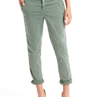 Twill stripe girlfriend chino | Gap