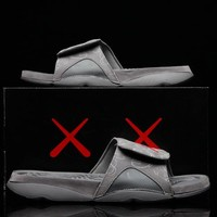 KAWS x Air Jordan Hydro 4 Cool Grey  930155-003 Men Shoes