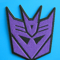 """3.1"""" CARTOON movie Transformers Decepticon Embroidered Iron on patch"""