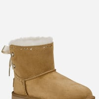Ugg Dixi Flora Perf Girls Boots Chestnut  In Sizes