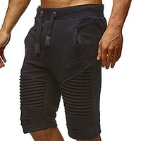 Men's Fashion Cotton Elastic Gyms Jogger Shorts