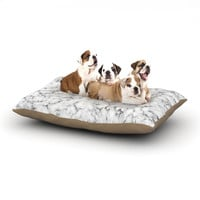 """Will Wild """"Marble"""" White Gray Dog Bed"""