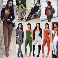 Jumpsuits Women Skinny Bodycon Rompers Strapless Bodysuits