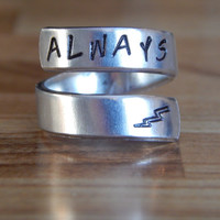 Always  Harry Potter Inspired Twist Ring Hand Stamped
