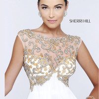 Sheer High Neckline Sherri Hill Formal Prom Dress 11108