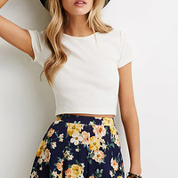 Floral-Printed Gauze Shorts