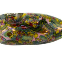 Nepal Glass - Funky Confetti Fully Worked Egg
