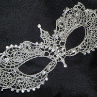 Silver Soft Lace Masquerade Mask - Lightweight and Comfortable