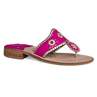 Palm Beach Navajo Sandal in Bright Pink and Platinum by Jack Rogers