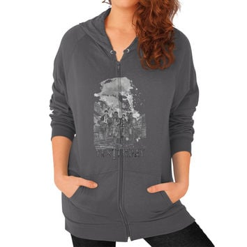 YESTERDAY BEATLE Zip Hoodie (on woman)