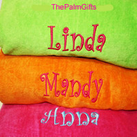 QUALITY - Monogrammed Beach Towels-Personalized Pool Towels Kids Adults Children
