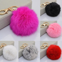 New Women Men's Fashion Keychain with Cute Ball Shape Accessory for Car Key Ring Bag = 1932750788