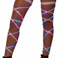 Pink & Blue Light-Up Leg Wraps