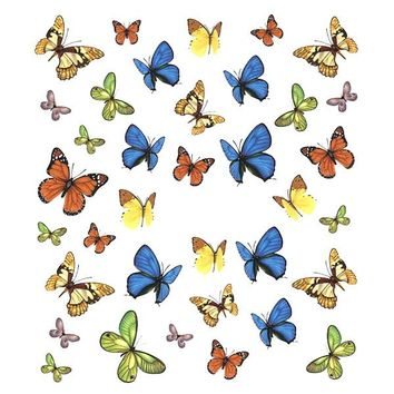 Nail Art Water Decals Sticker - Pop Decals - Colorful Butterflies – Daily Charme