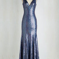 Statement Long Sleeveless Maxi Northern Lights Up the Room Dress
