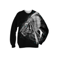 Don't Define Your World In Black & White (Chief of Dreams: Tiger) Unisex Sweatshirt created by soaringanchordesigns   Print All Over Me