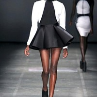 Laser beam poodle skirt - Laquan Smith