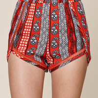Me To We Lattice Inset Tulip Shorts at PacSun.com