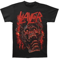Slayer Men's  Meathooks T-shirt Black Rockabilia