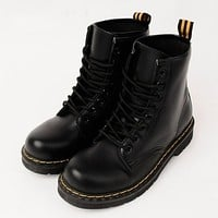 Vegan Leather Combat Boots