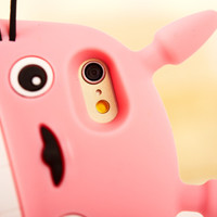 2016 3D Cute Cartoon Totoro Soft Silicone Animal Back Case Cover for iphone 6 6S 6+ iphone6 plus 5 5s 5C C freeshipping=CA073