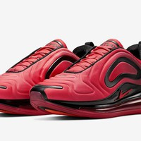 HCXX 19Aug 738 Nike Air Max 720 Red-Black AO2924-600 Women Men Sports Sneaker Fashion Running Shoes