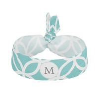 Personalized Monogram aqua rings pattern
