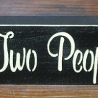 Inspirational Quotes All Because Two People Fell In Love  Painted Wood  Sign You Pick Colors