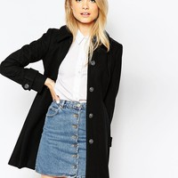 ASOS Dolly Skater Coat With Pleat Detail