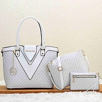MK MICHAEL KORS Women Fashion Handbag Tote Shoulder Bag Set Two Piece