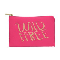Allyson Johnson Wild and free glitter Pouch