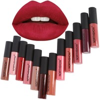 Long Lasting Matte Liquid Lipstick Makeup Waterproof Matte Batom Nude Liquid Lip Gloss