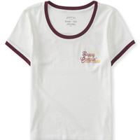 Seriously Soft Happy Camper Crop Baby Tee