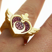 Sailor Moon Crisis Heart Ring. Laser cut acrylic made to your size.