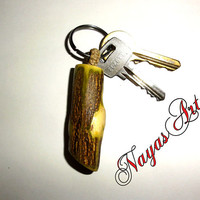Keychain Natural Osage Orange Tree Branch. Unique One Of A Kind Gift. Anniversary Gift, Wedding Gift, Gifts for Parents, Anniversary Present